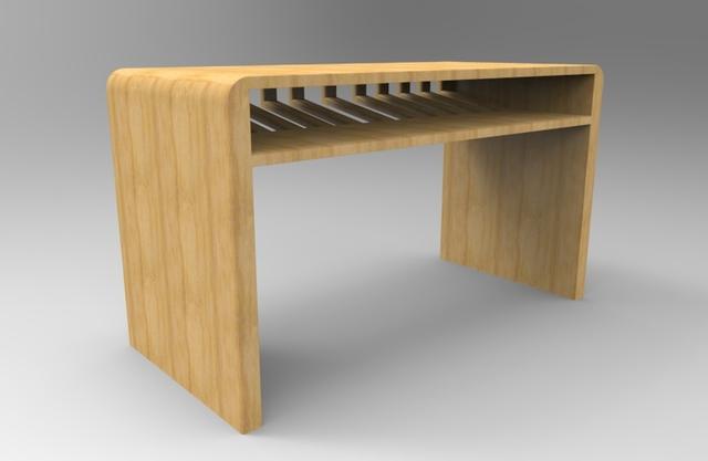Half Back Skeleton Computer Table