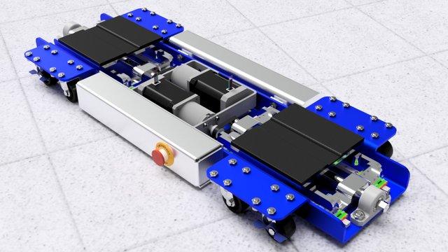 Rendered Leveling Robot