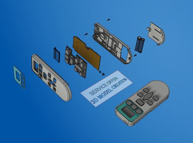 Exploded view and Assembly for Remote control