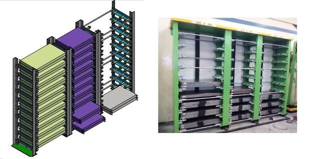 Rack of mould press