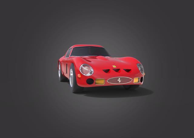 Ferrari 250 GTO model and render