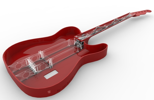 Acoustic Guitar Wireframe