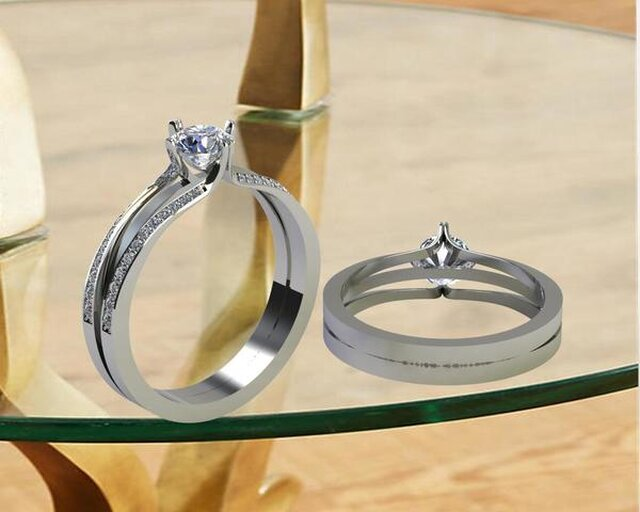 jewelry cad design with background