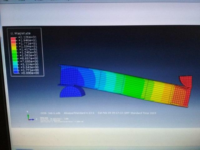Analysis using FEM in Abaqus