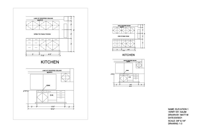 KITCHEN SECTION VIEW -11x17