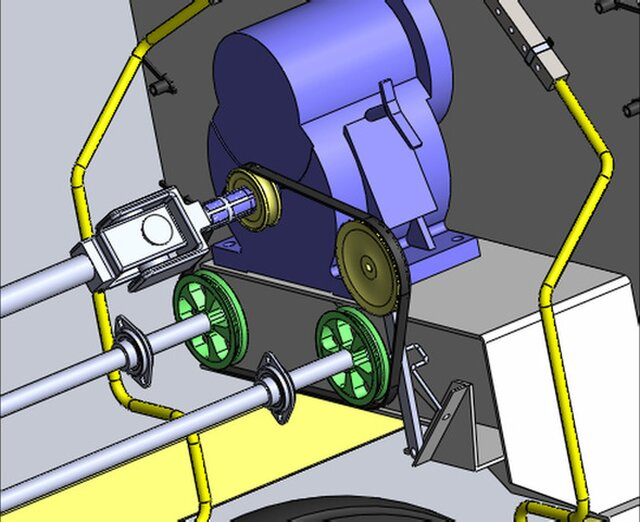 gearbox and pulley motion study