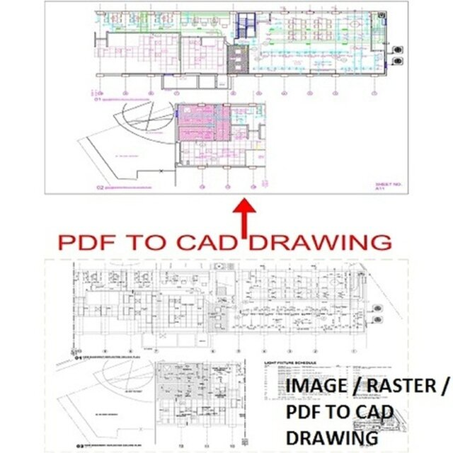PDF TO CAD DRWING OR RASTER TO VECTOR DRWGIN IN CAD