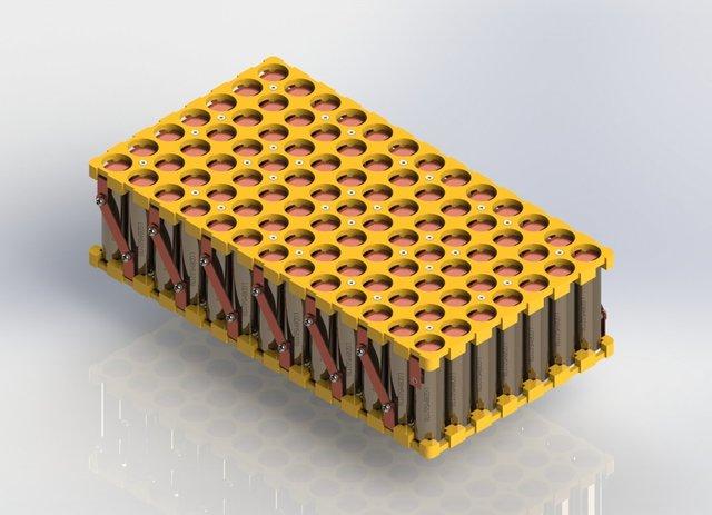 21700 Li-Ion Battery Pack (35A, 48V, 1680 Watts)