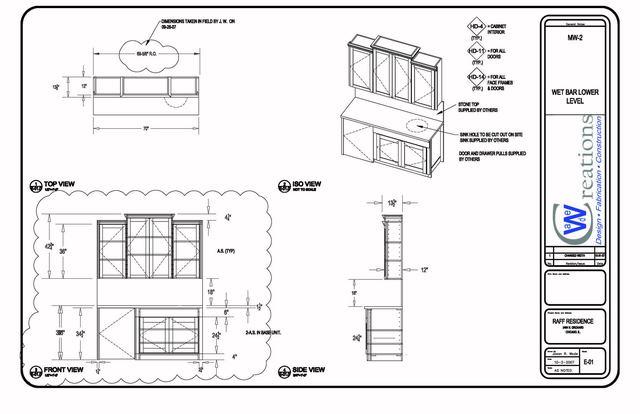 Mill work drawings