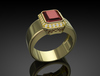 Gold Ring Ruby