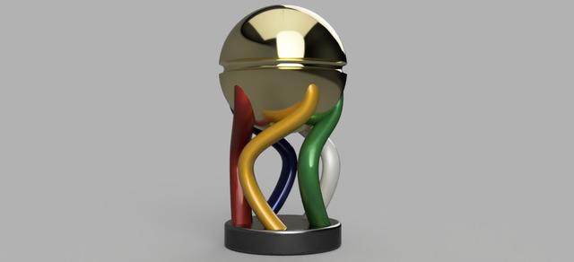 Multi colour Trophy