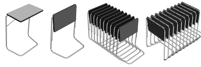 Folding and collapsible table