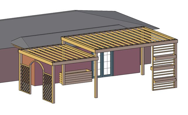 Two-Tiered Pergola Design