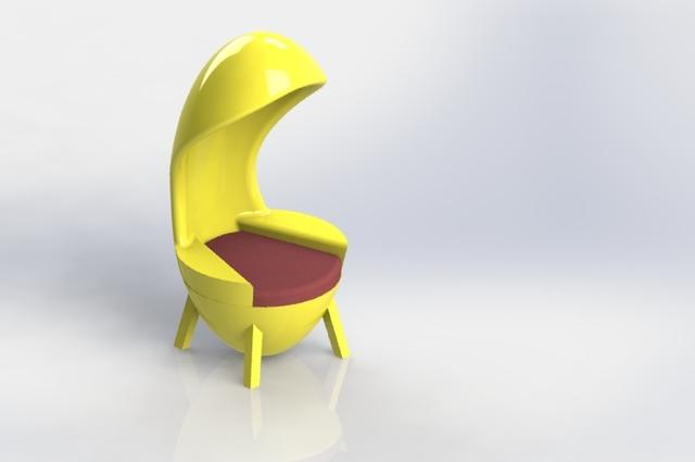 oval shape arm chair