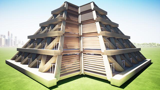 Pyramid City of the Future