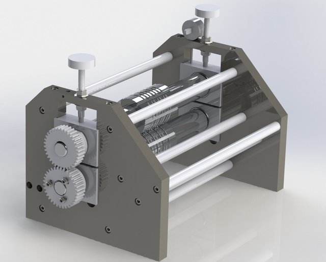 Custom roller assembly for Rotary pleating machine