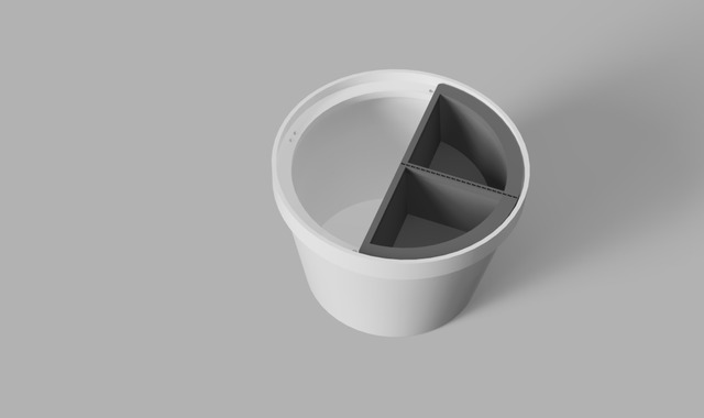 Food Bowl with Perforated Tray