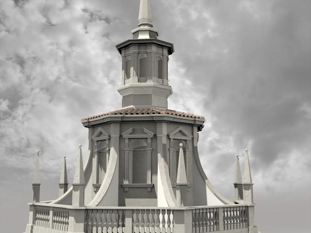 Octagonal baroque building