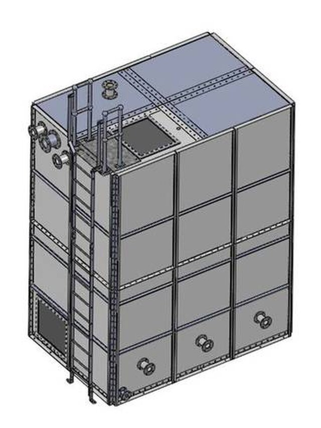 Water tank CAD modeling