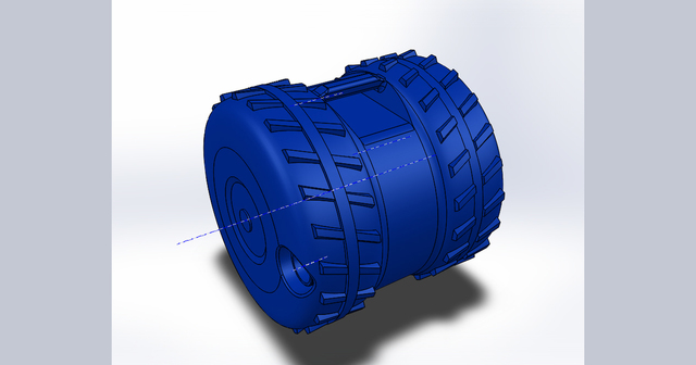 Wheel container
