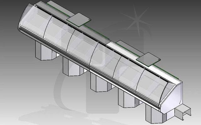 Sheet Metal Design- Display Freezer