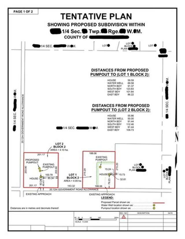 Proposed Subdivision & Rezoning Land Use plans