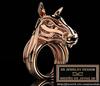 Stylized horse ring