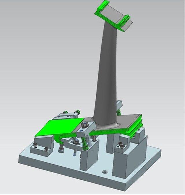 gas turbine fixture design