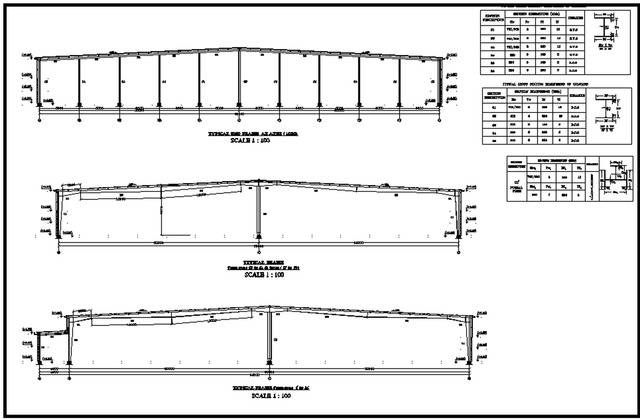 Steel detailing drawings