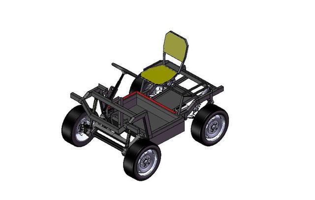 desain chasis electric car
