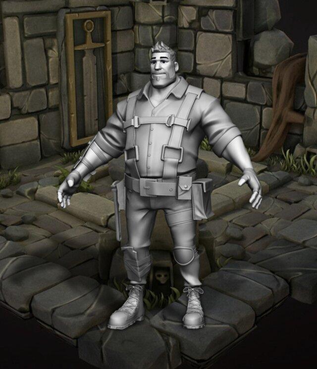 Heavy BASE Kyle (Fortnite) - 3D Fan Art