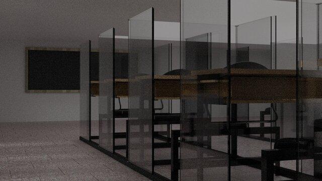 Desk with slide door (COVID design)