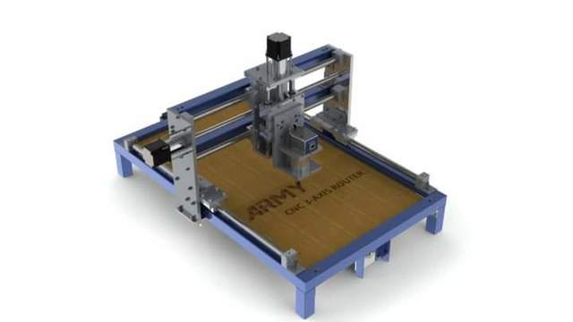 CNC 3 Axis router (Design&manufacuring)