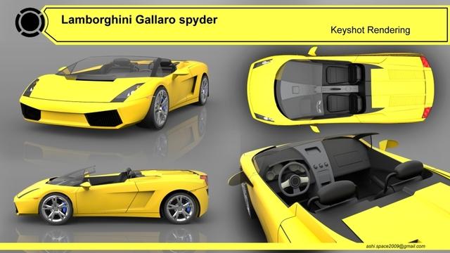 Lamborghini Alias automotive model and keyshot rendering