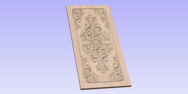 Door Design 002 - CNC Toolpath - Wood Carving