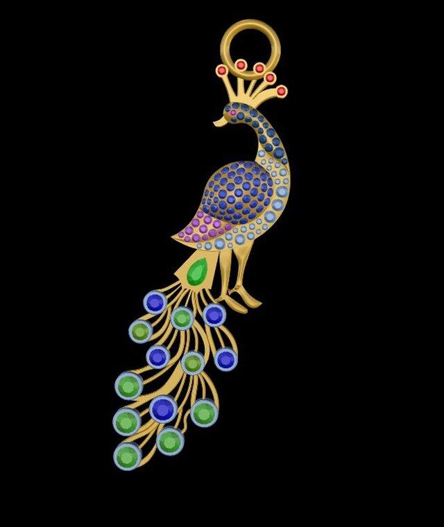 Peacock Design Pendant.