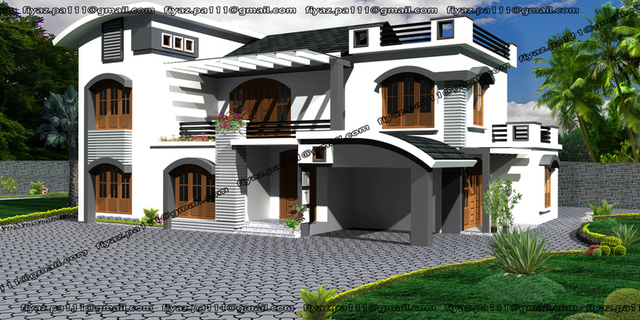 contemporary home design_india, kerala