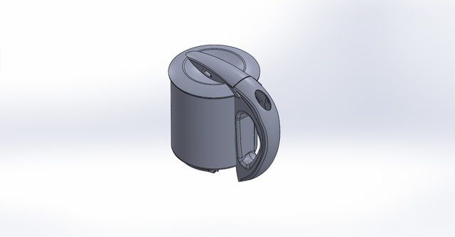 PLASTIC PART OF KETTLE PART WITH ASSEMBLY