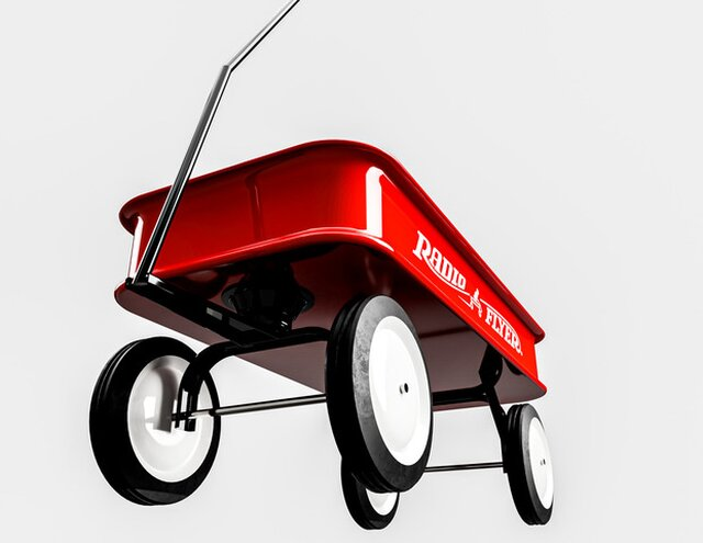 Simple Radio Flyer Red Wagon
