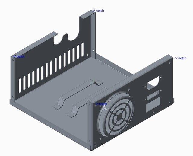 CPU sheet metal enclosure 3D model
