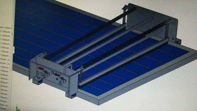 Solar Rooftop Panel Cleaning System Motorised