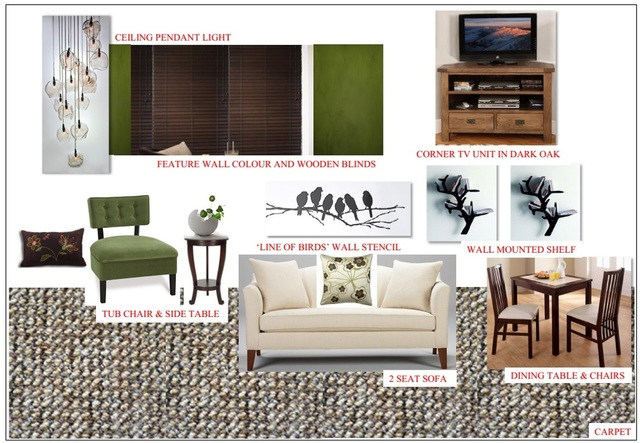 Mood board of a Living room