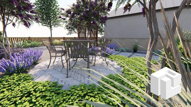 Mediterranean Front Yard Landscape Design