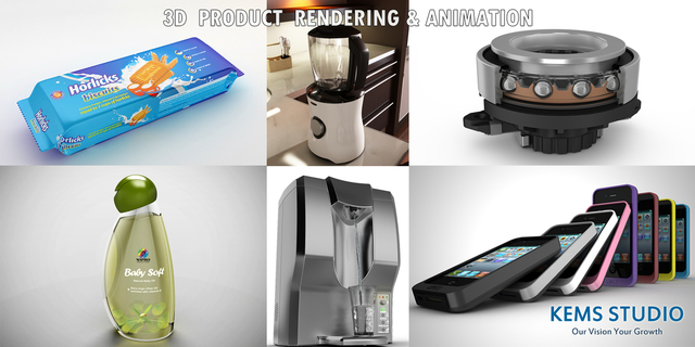 3D Product Animation and Rendering