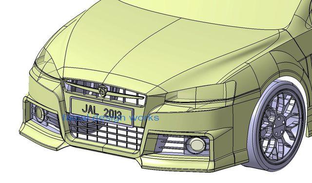 3D CAR Design - Proton INSPIRA