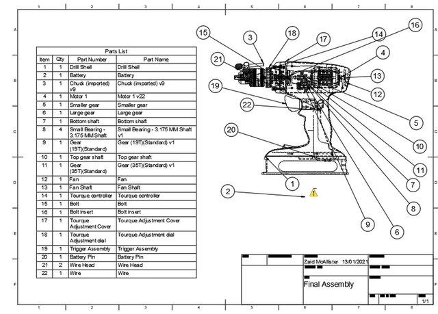 Engineering || Power drill