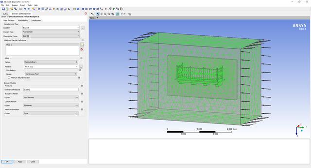 Flow Simulation of Balcony