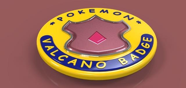 Pokemon Valcano Badge