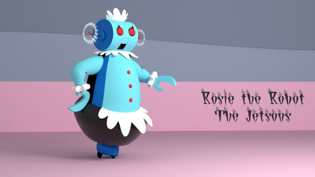 """""""Rosie the Robot"""" from the 1962 Jetsons cartoon."""