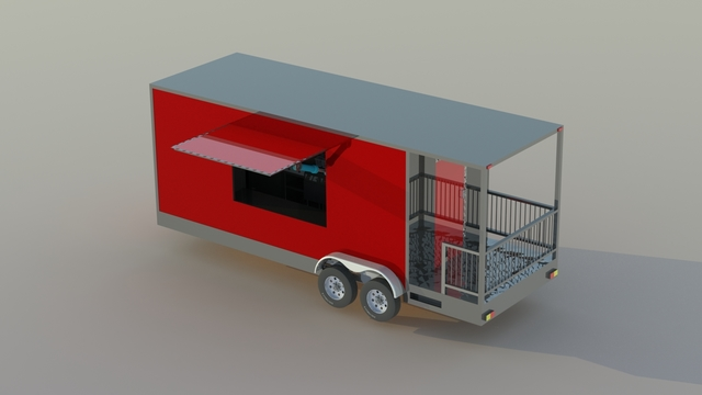 Food Truck Trailer and Interior Modeling